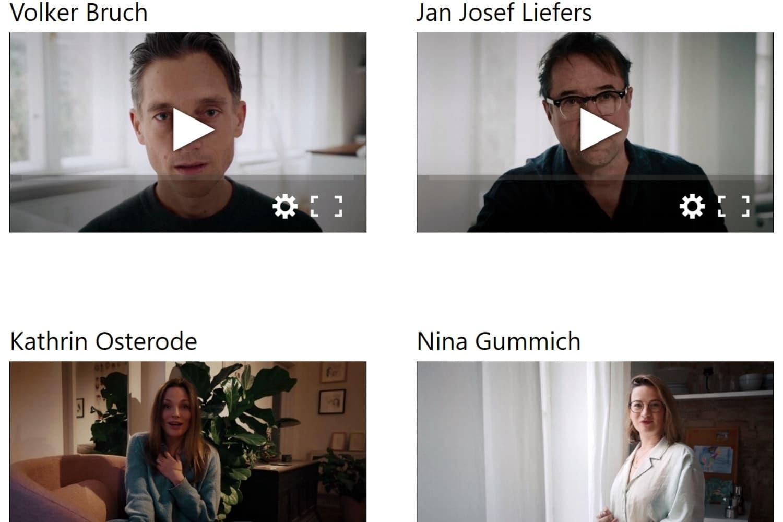 Querdenkende Schauspieler auf allesdichtmachen.de (Screenshot)