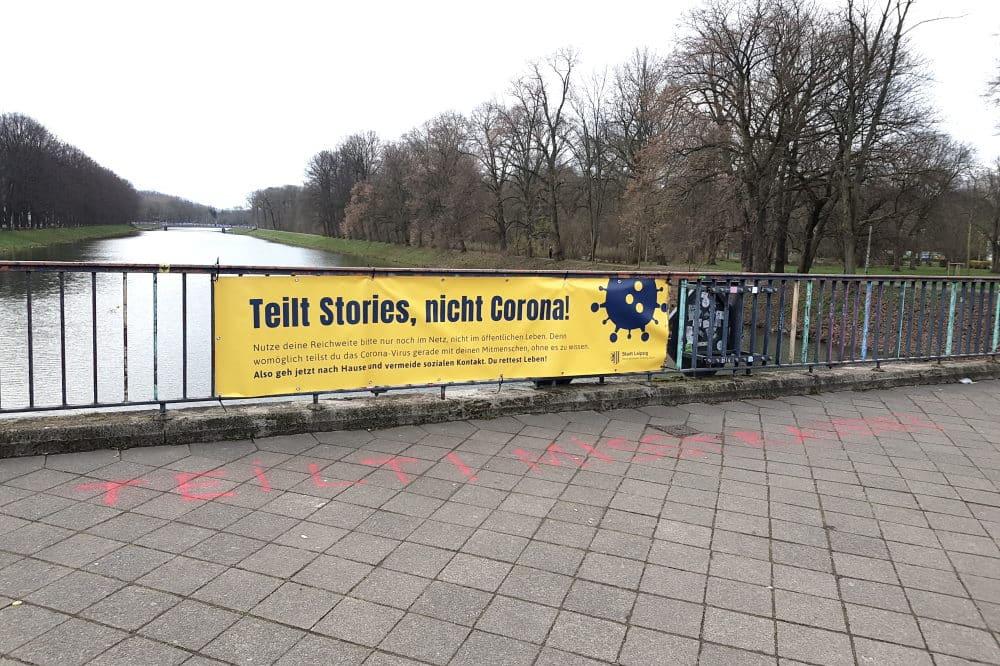 Teilt Stories, nicht Corona. Foto: Marko Hofmann
