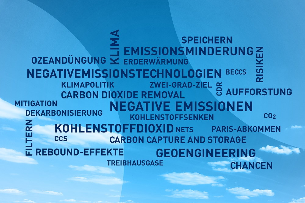 Wortwolke zu Negativen Emissionen. Grafik: UFZ