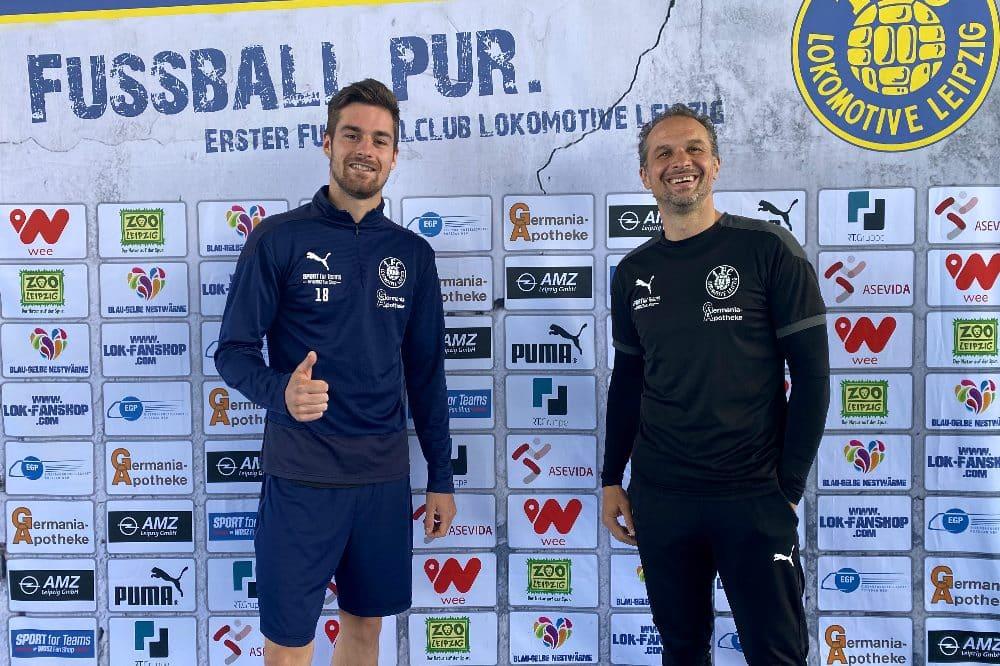 Leon Heynke und Almedin Civa. Quelle: 1. FC Lokomotive Leipzig