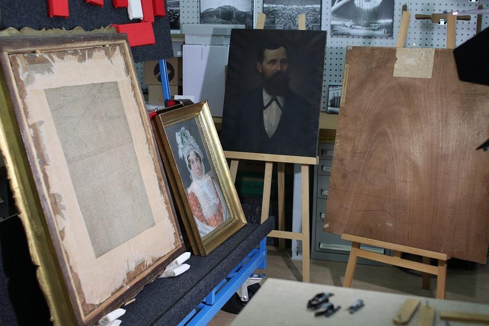 Einige der zu untersuchenden Werke aus dem Stadtgeschichtlichen Museum. @SGM