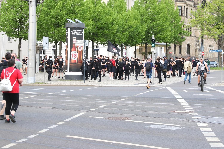 Der Gegenprotest am 10. Mai 2021. Foto: LZ