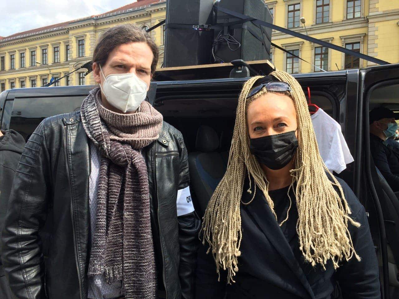 """Jürgen Kasek und Irena Rudolph-Kokot von """"Leipzig nimmt Platz"""". Foto: LZ"""