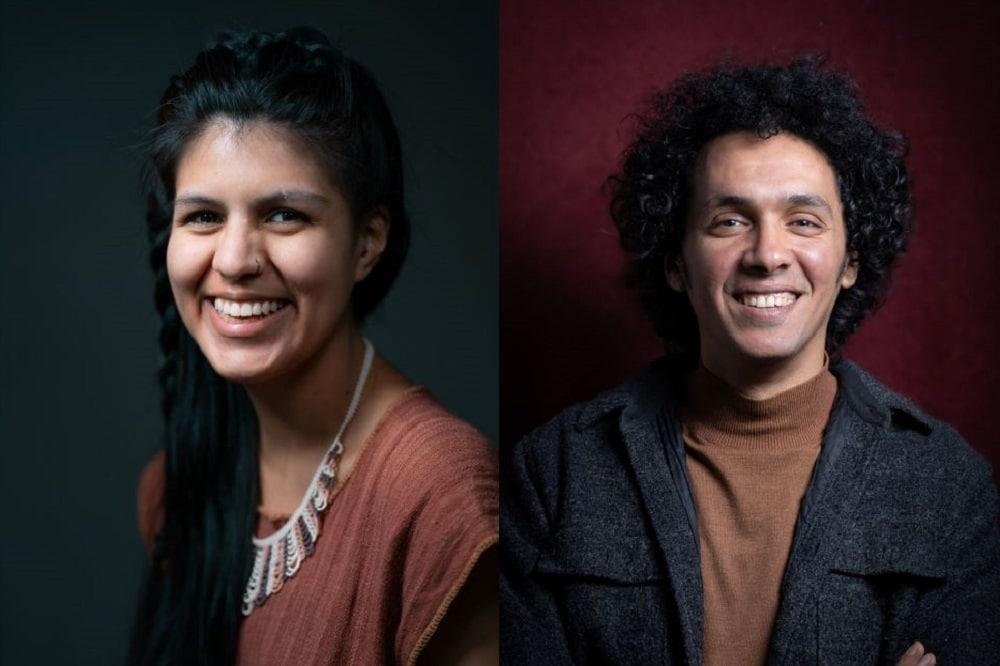 Zwei Mitglieder des neu gewählten Migrantenbeirats: Yameli Gomez Jimenez (links) und Mohammad Okasha (rechts). Fotos: Martin Rebaza Ponce de Leon (links), Nader Gadelrab (rechts); Montage: LZ
