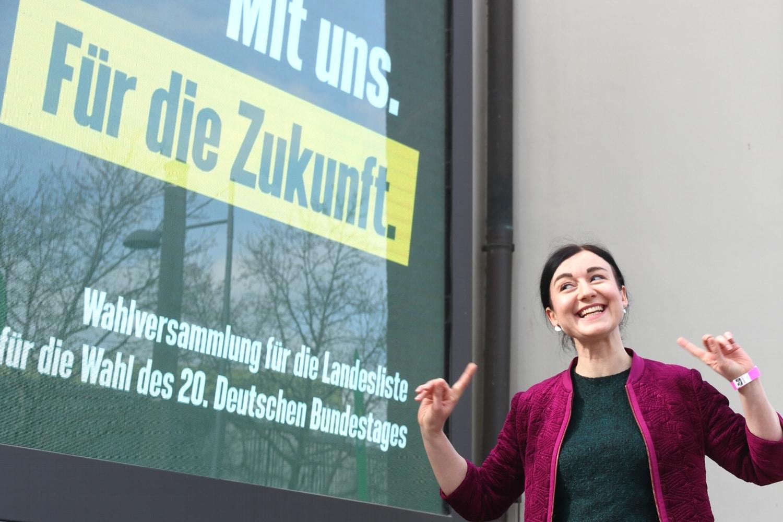 Paula Piechotta: Direktkandidatin der B90/Grünen im Leipziger Süden für die Bundestagswahl 2021. Foto: Michael Freitag / LZ