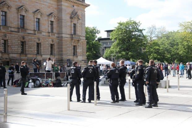 Die Polizei wurde gegen Ende aktiv. Foto: LZ