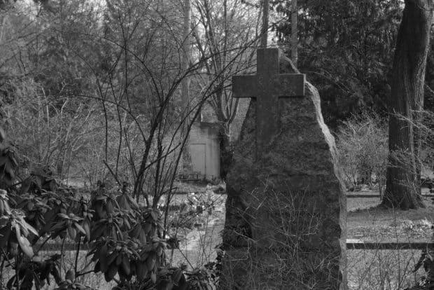Begräbnisstätten, hier der Leipziger Südfriedhof, strahlen oft etwas Mystisches und Geheimnisvolles aus. Foto: Lucas Böhme