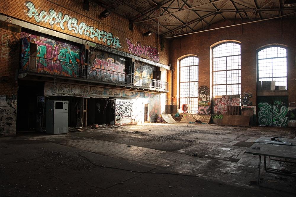 Raum für Kreativität: Auf dem Gelände des Eisenbahnkraftwerks im Leipziger Süden entsteht ein neues Kulturzentrum. Foto: Robert Schikor
