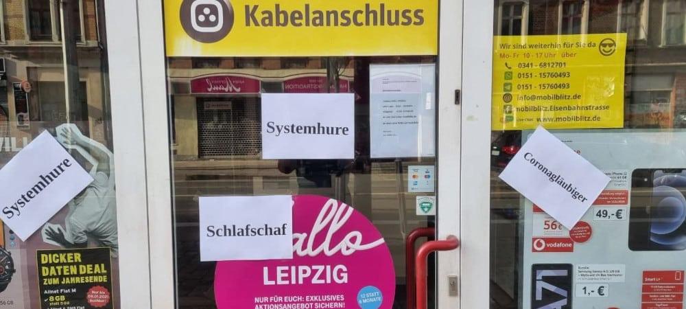 Mitte April 2021 der erste Angriff auf den Laden in der Eisenbahnstraße. Foto: Privat