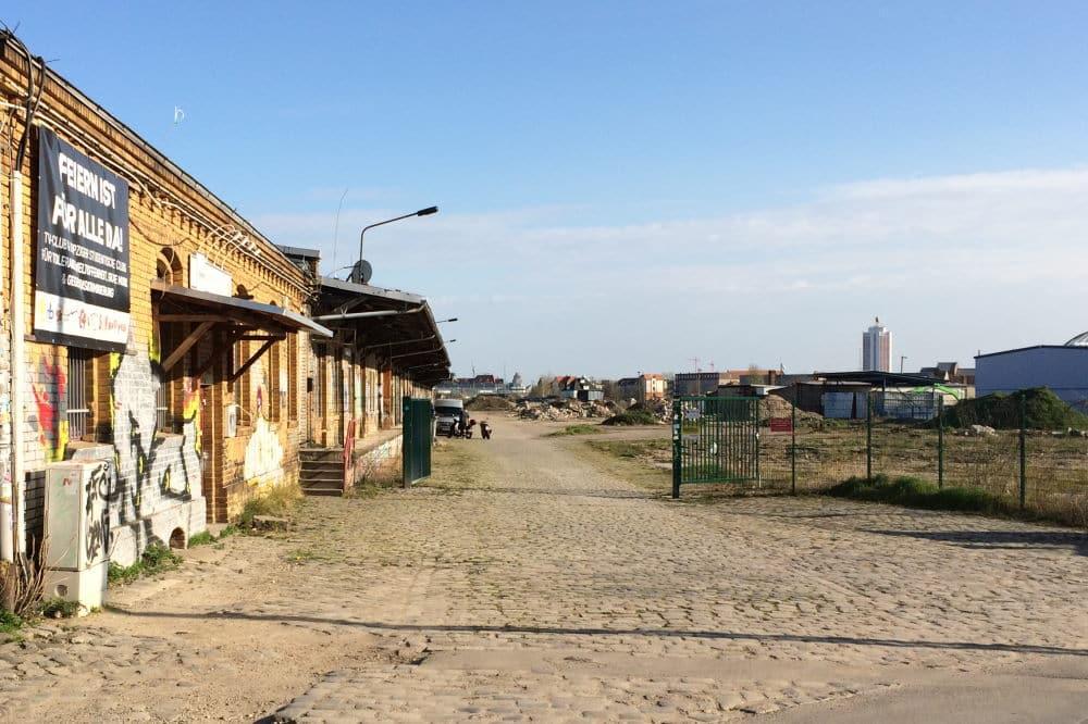 Am Baugebiet Eutritzscher Freiladebahnhof. Foto: LZ
