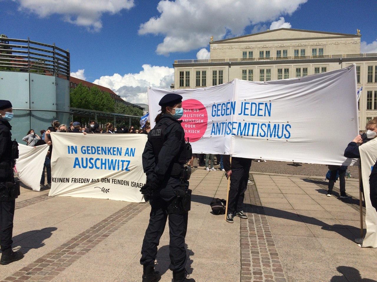 Gegen jeden Antisemtismus auf Pro-Israel-Seite. Foto: LZ