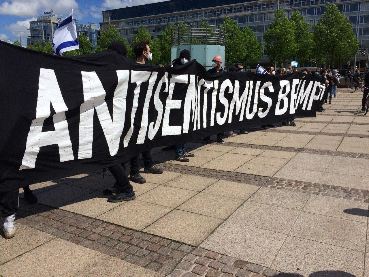 Die Hauptsorge auf der Pro-Israel-Demo: der Antisemitismus. Foto: LZ