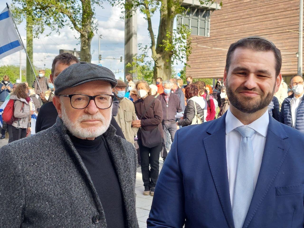 Küf Kaufmann (Vorstand der Jüdischen Gemeinde Leipzig) und Rabbiner Zsolt Balla. Foto: LZ