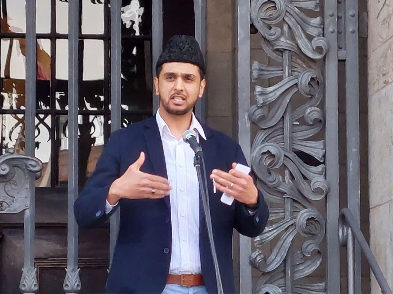 Umer Rashid Malik von der Leipziger Glaubensgemeinschaft der Ahmadiyya Muslim Jamaat. Foto: LZ