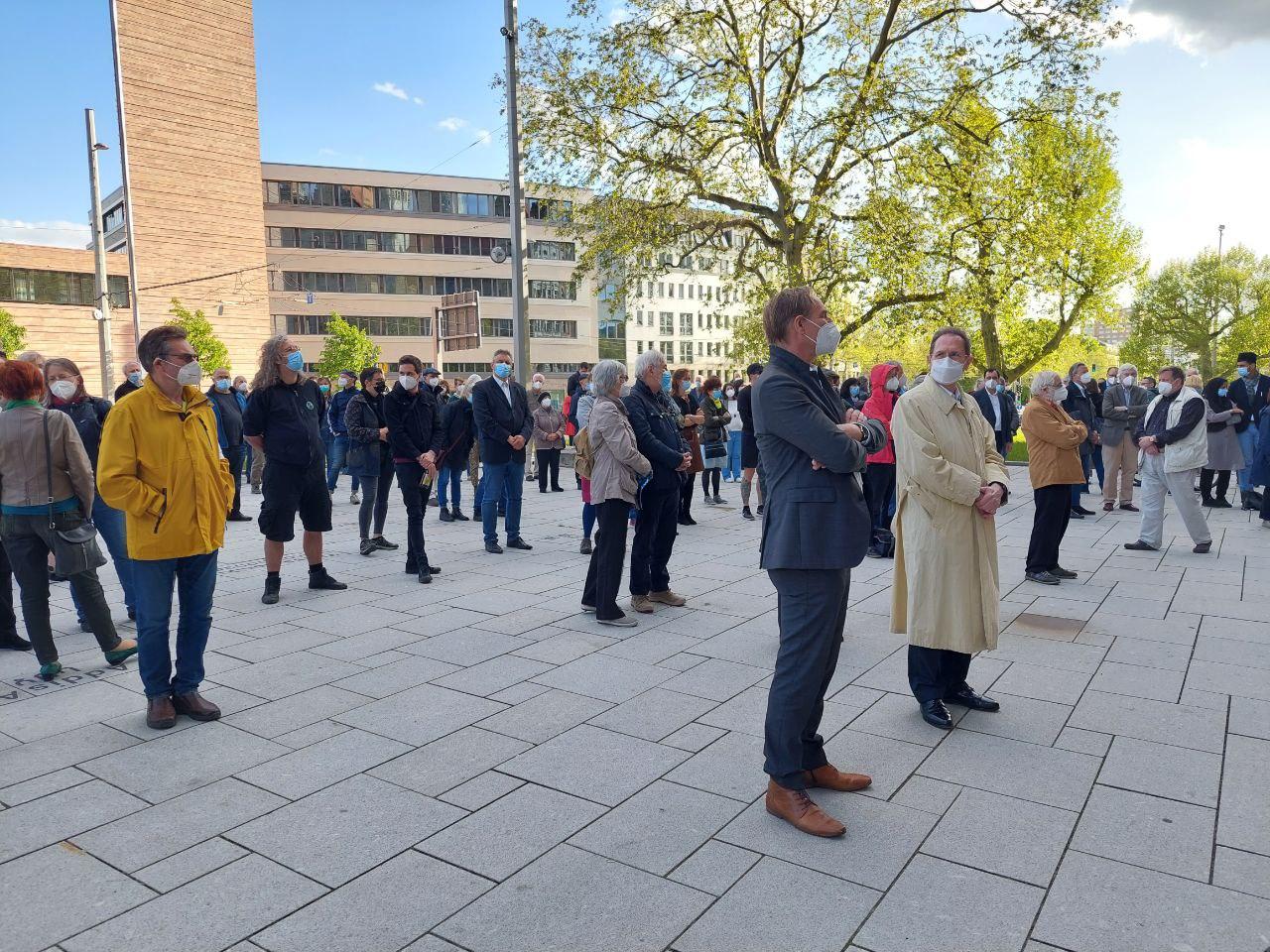 Küf Kaufmann bedankte sich für den Zuspruch in Leipzig nach den antisemitischen Vorfällen in vielen deutschen Städten. Foto: LZ