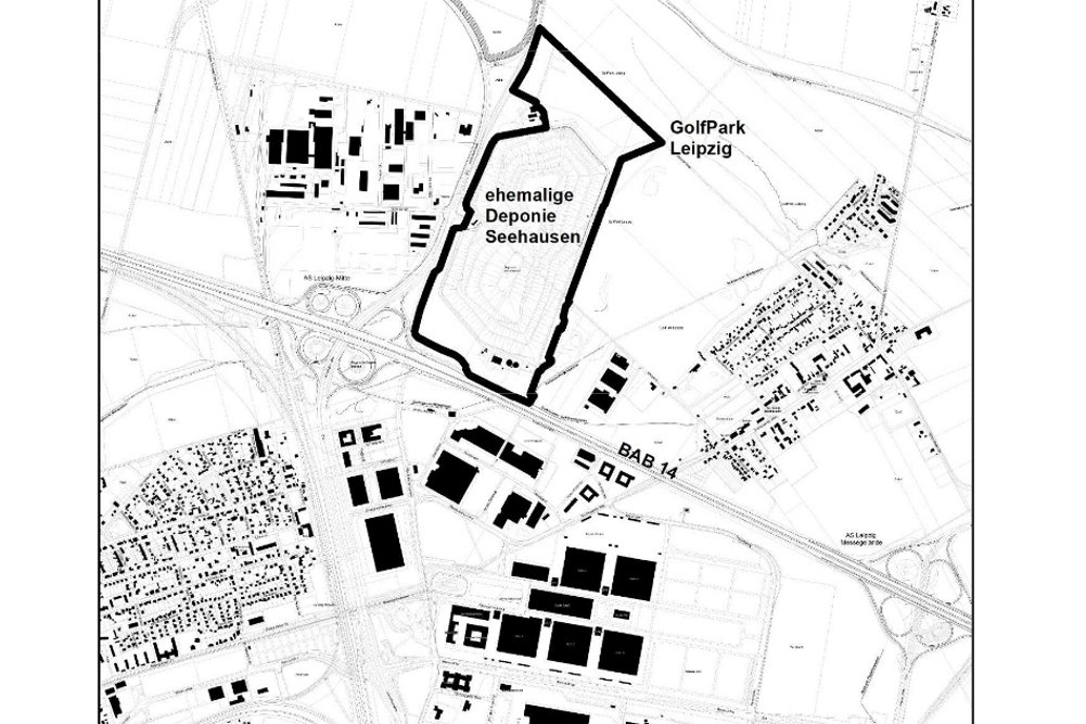 Das vorgesehene Gebiet für den Bebauungsplan der Deponie Seehausen. Karte: Stadt Leipzig