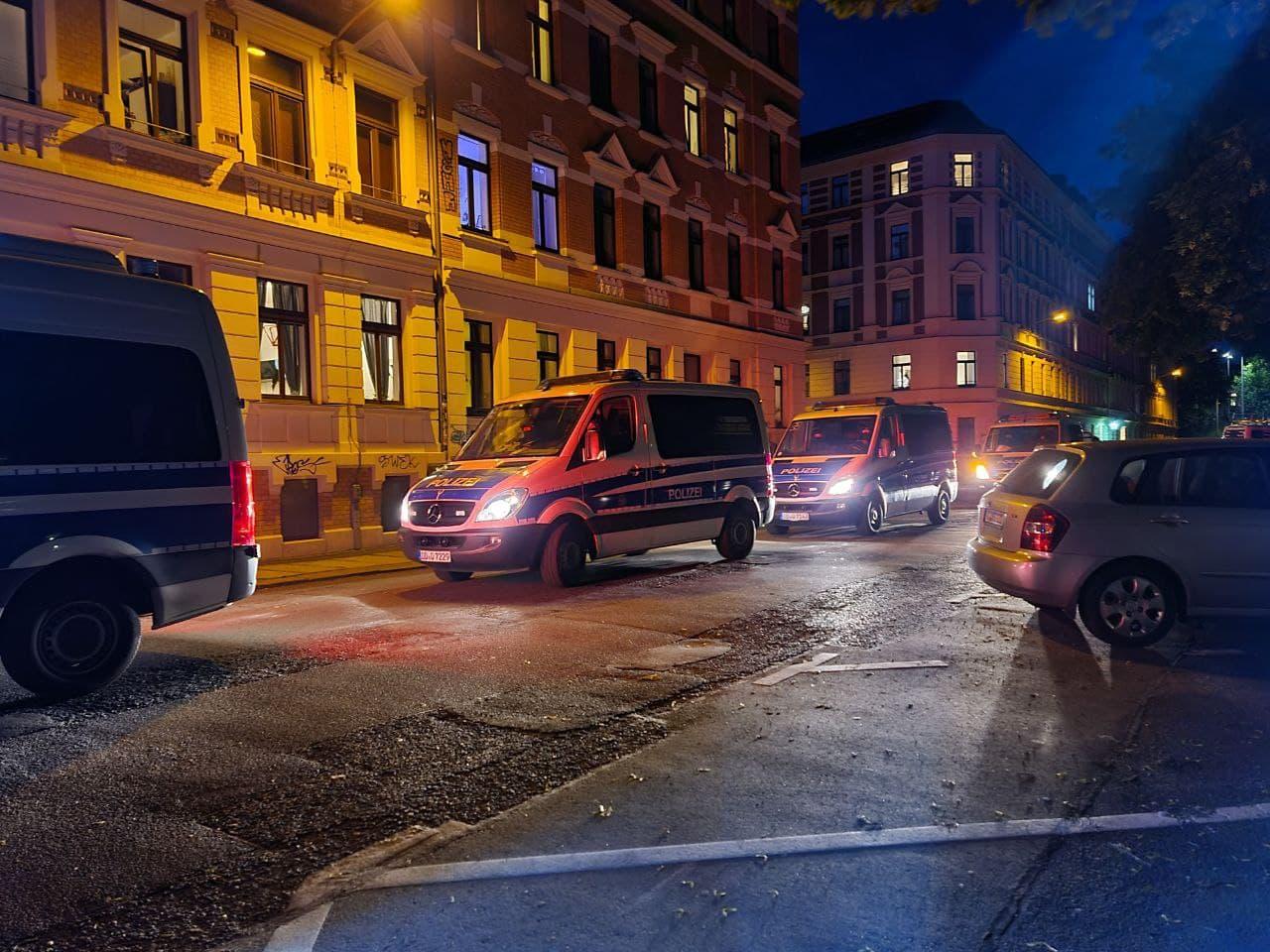 Extrem hohe Polizeidichte. Foto: LZ