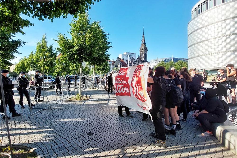 Der Gegenprotest, initiiert von
