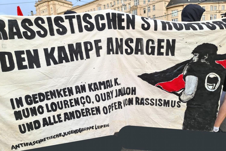 Protest gegen Rassismus. Foto: Leon Eisfelder-Mylius/LZ
