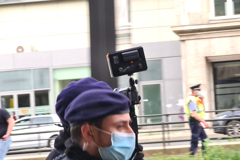 Nach Kritik stellte die Polizei das präventive Filmen ein. Foto: Leon Eisfelder-Mylius/LZ