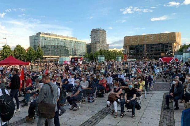 Der Augustusplatz am 22.06.2021. Foto: LZ