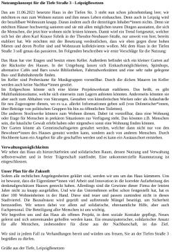 Besetzerschreiben mit ersten Vorschlägen zum weiteren Verlauf. Bild: Leipzig Besetzen bei Twitter
