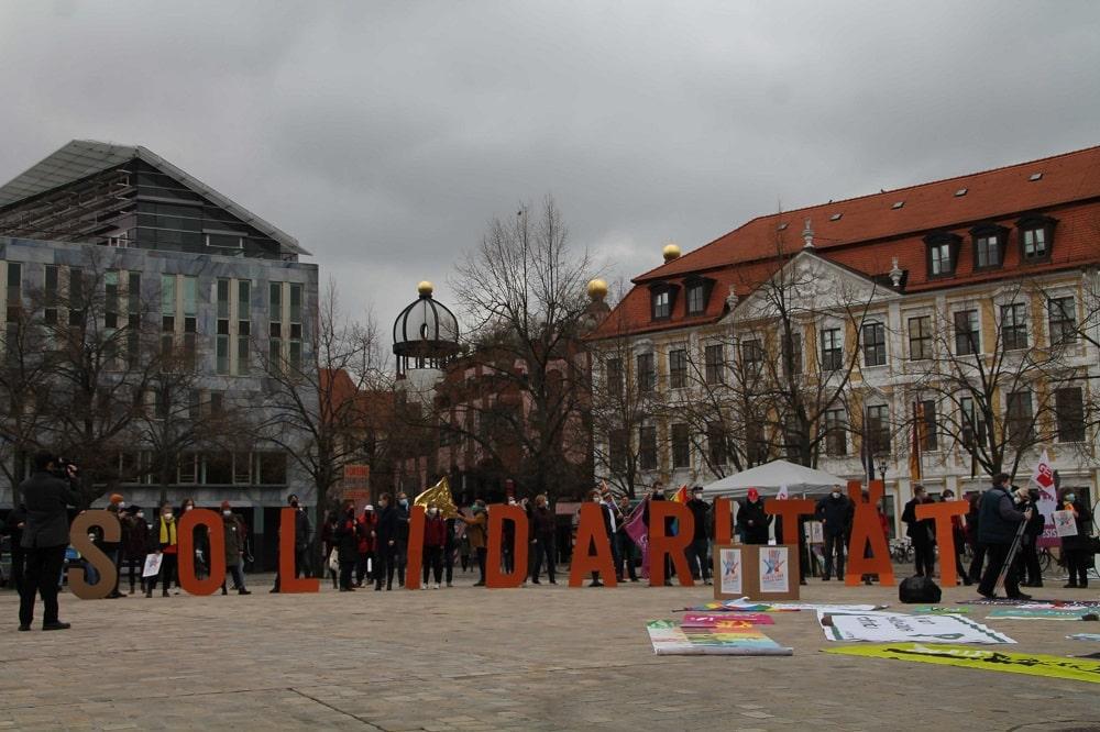 Im April ging das Bündnis unteilbar in Magdeburg für Solidarität auf die Straße. Foto: unteilbar