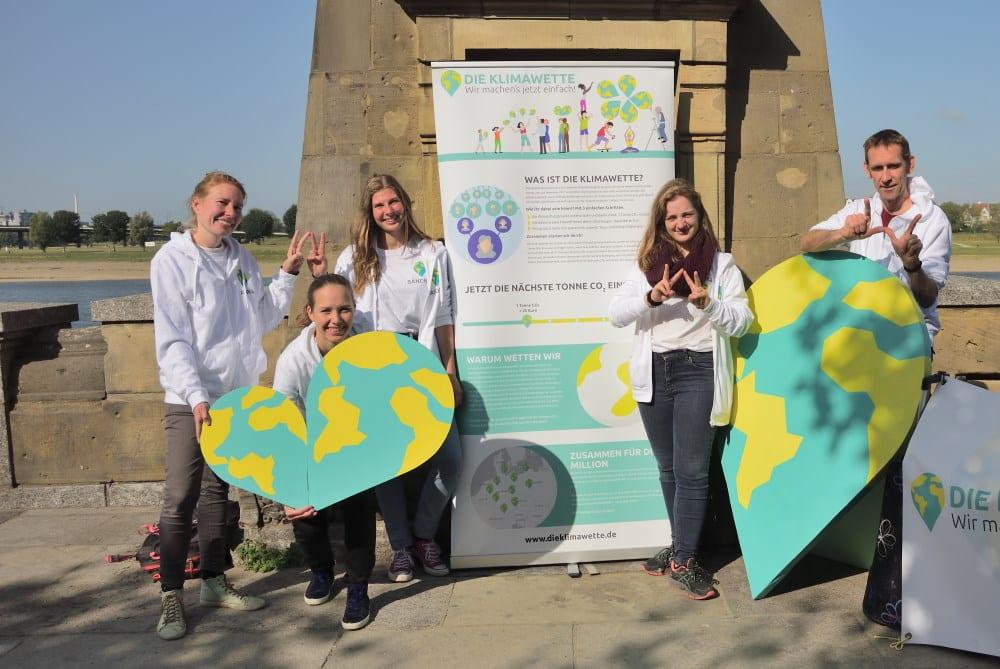 Das Team der Klmawette. Foto: Die Klimawette