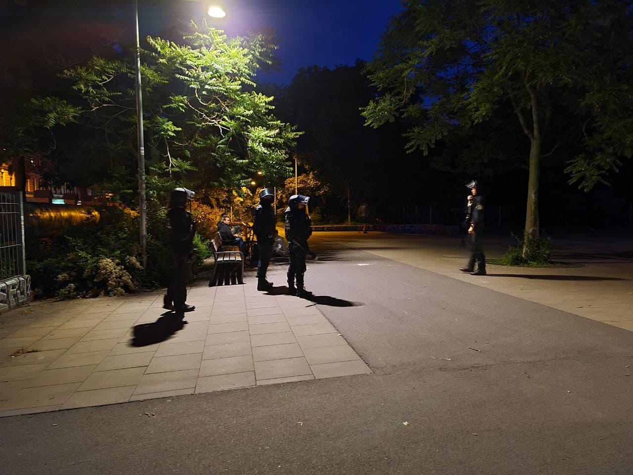 Räumung im Park. Foto: LZ