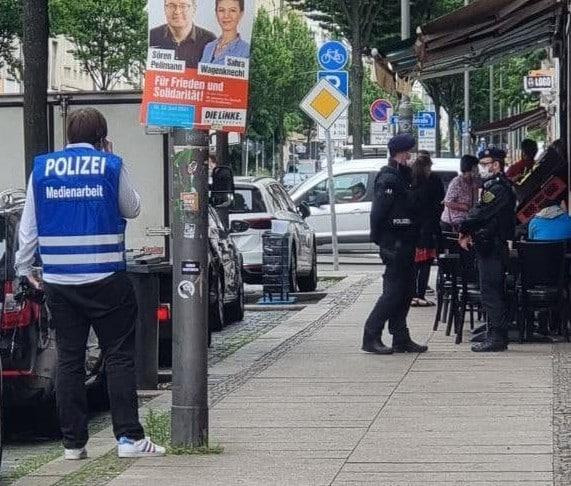 Razzia am Dienstag auf der Eisenbahnstraße. Foto: privat