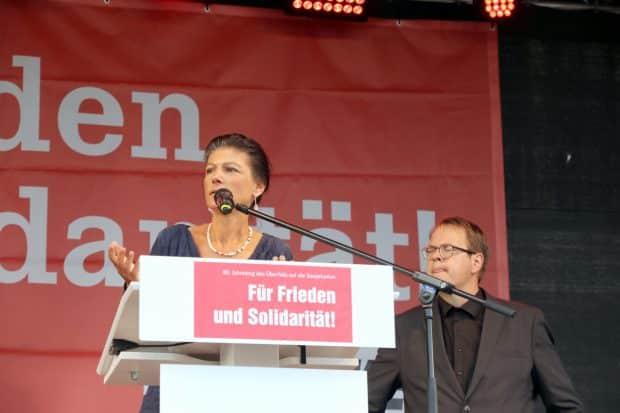 Sahra Wagenknecht und Sören Pellmann. Foto: LZ