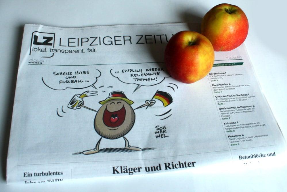 Die LZ Nr. 92 - mit zwei Äbbeln aus Sachsen. Foto: L-IZ