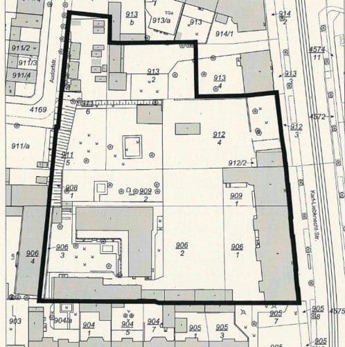 Übersichtsplan für das Gelände des neuen Quartiers. Karte: Stadt Leipzig