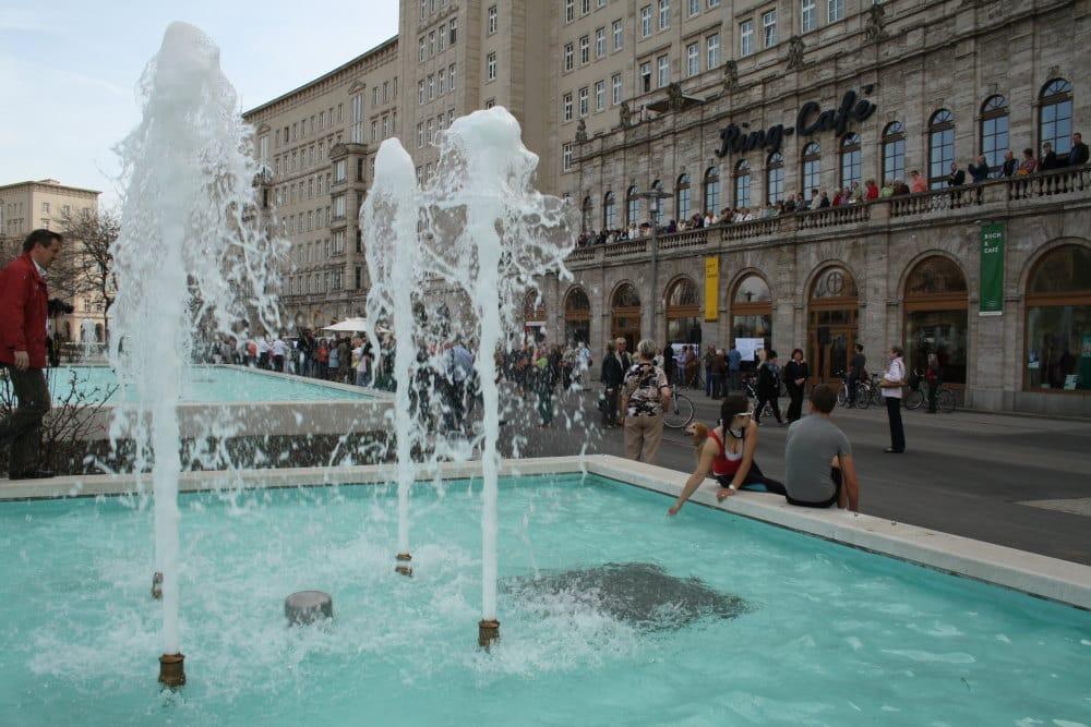 Springbrunnen am Roßplatz. Archivfoto: Ralf Julke