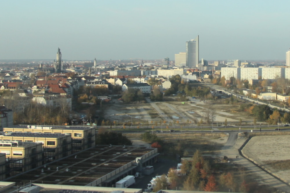Blick auf das Baugebiet an der Kurt-Eisner-Straße. Foto: Matthias Weidemann