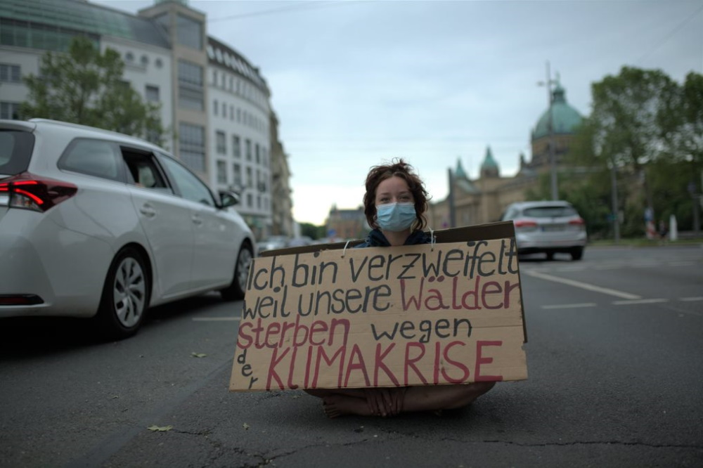 Protest am Martin-Luther-Ring am 12. Juni. Foto: Extinction Rebellion