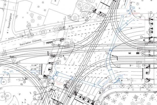 So können die Radfurten am Goerdelerring und am Tröndlinring künftig aussehen. Grafik: Stadt Leipzig