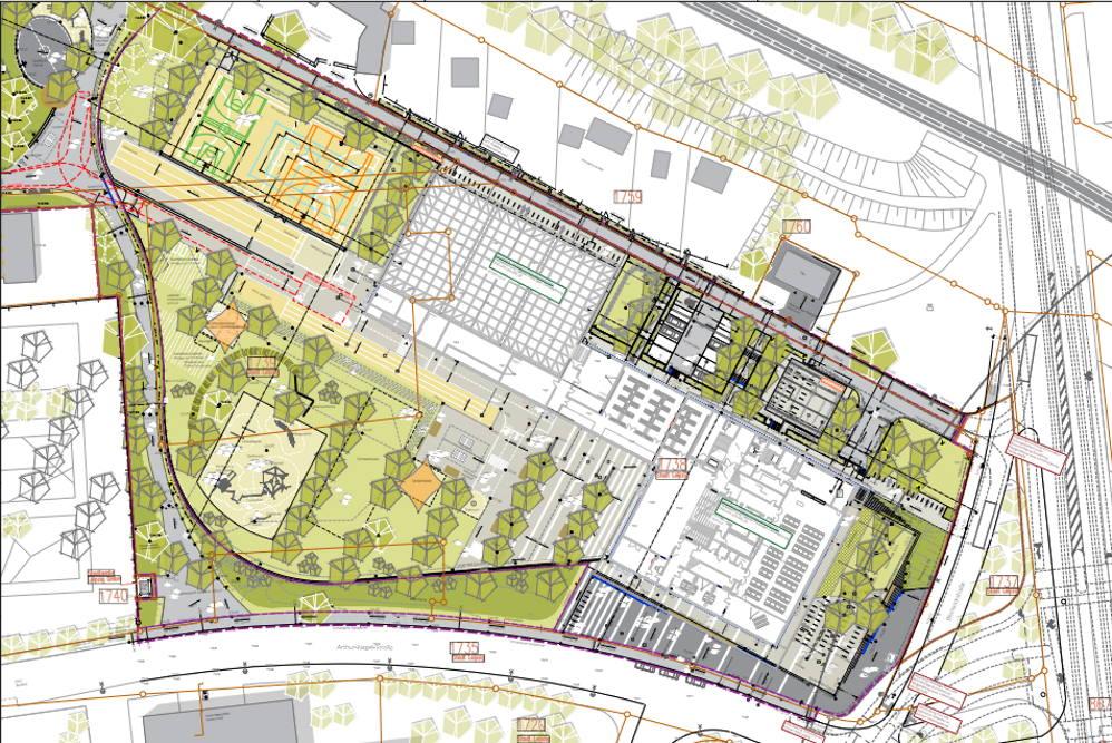 Die geplante Grundschule mit Turnhalle an der Arthur-Nagel-Straße. Grafik: Stadt Leipzig