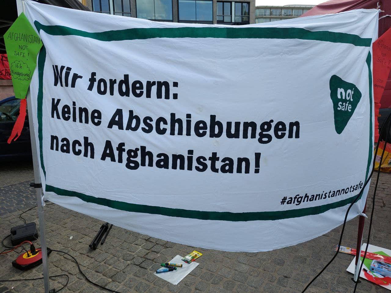 Protest gegen Abschiebungen nach Afghanistan. Foto: LZ