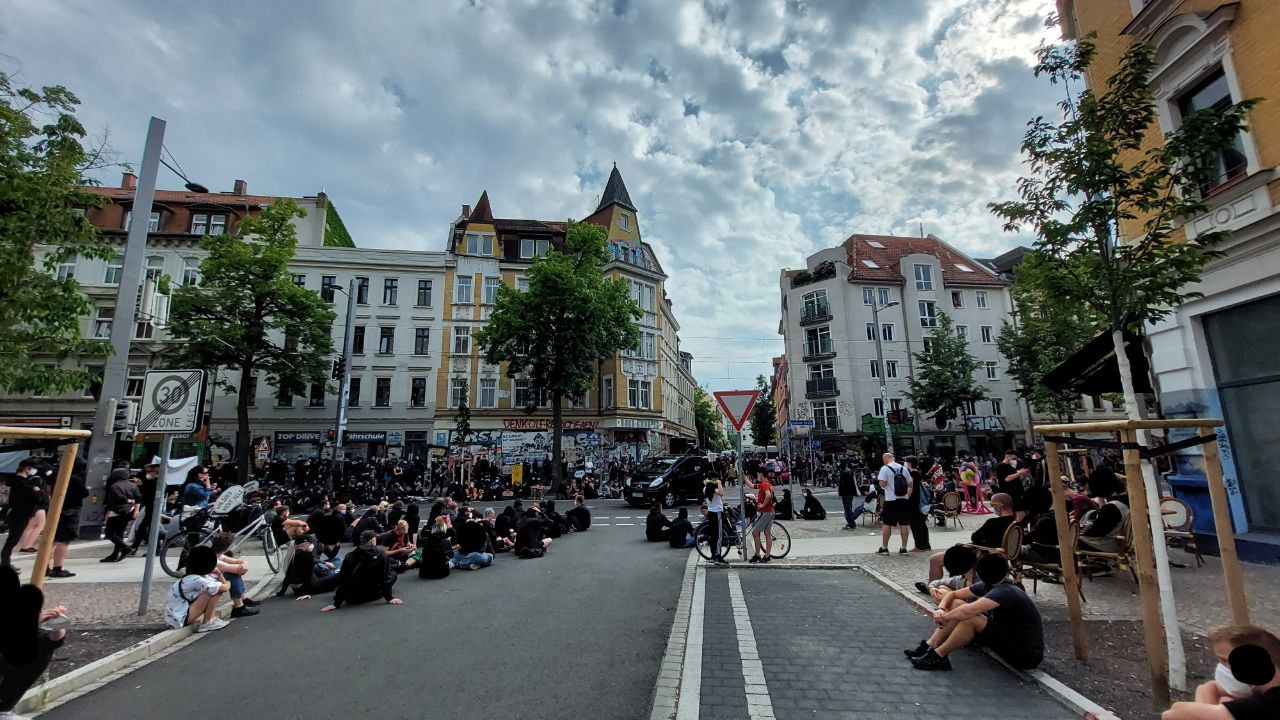 Demo gegen Repression in Connewitz. Foto: LZ