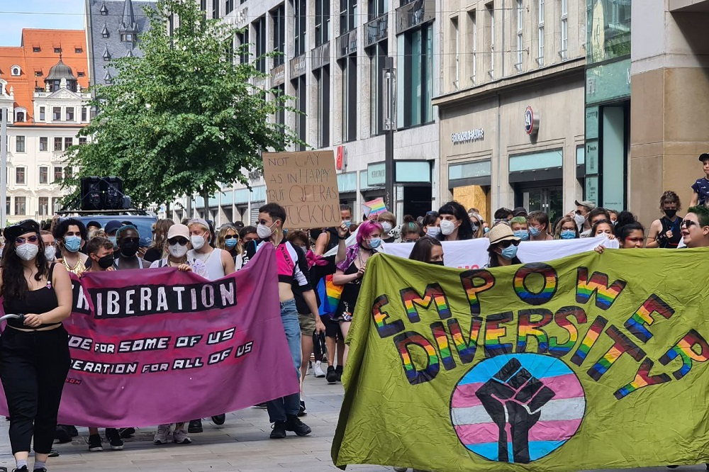 LGBTQ*-Demo in Leipzig. Foto: LZ