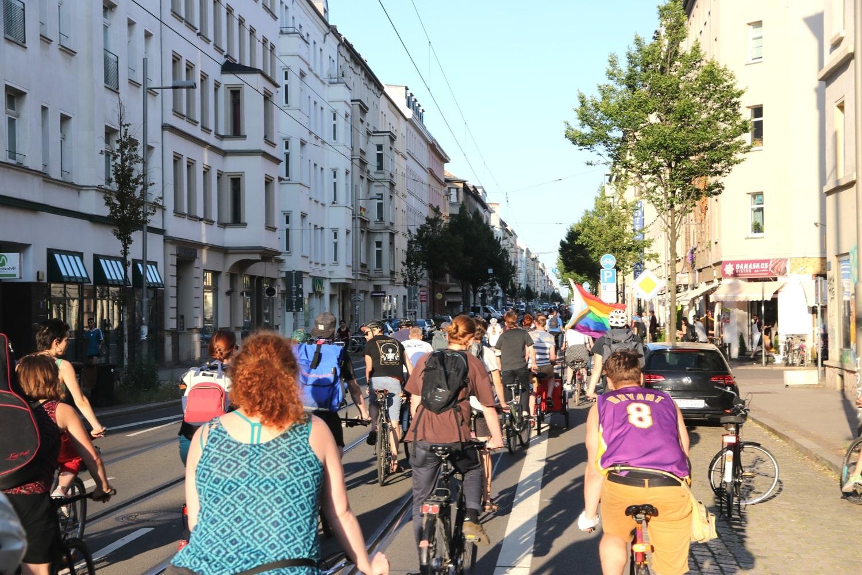 Erinnert regelmäßig an die Versäumnisse Leipziger Radverkehrspolitik: die Critical Mass. Foto: LZ