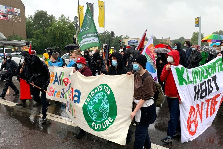 Die Fridays-Demo am 9. Juli 2021 in Bitterfeld. Foto: LZ