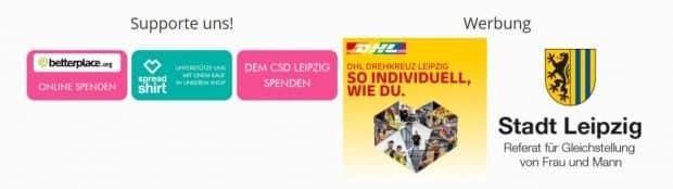 Werbe-Partner DHL beim CSD Leipzig. Screen CSD Leipzig