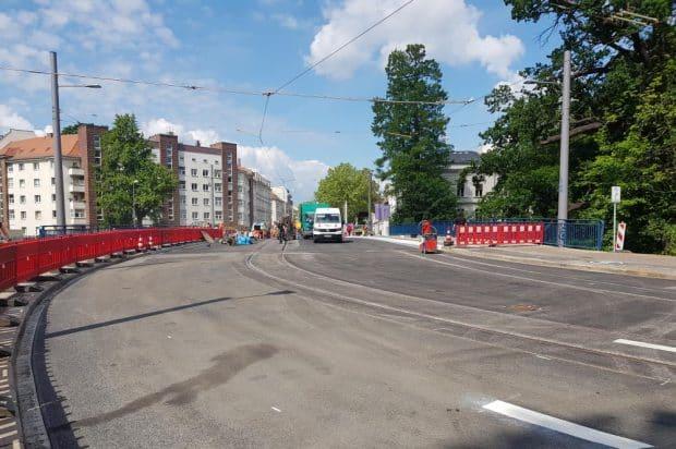 Die Plagwitzer Brücke kurz vor Fertigstellung 2020. Foto: Marko Hofmann
