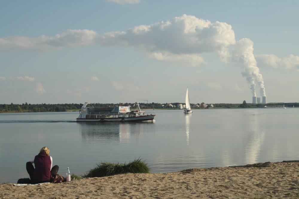 Der westliche Strandabschnitt am Cospudener See soll zum FKK-Strand werden. Foto: Ralf Julke
