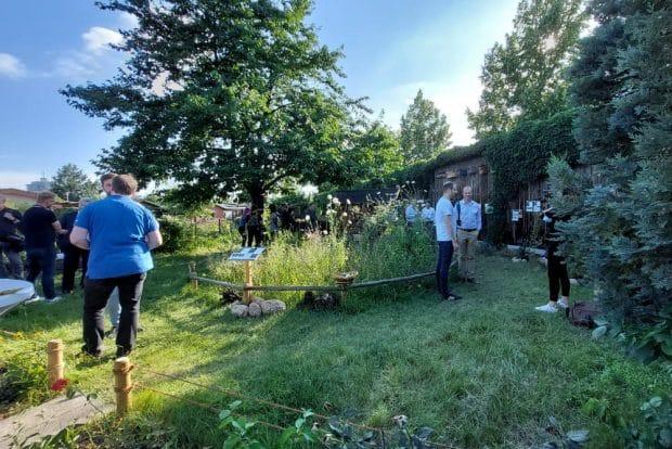"""Projekteröffnung in der Kleingartenanlage """"Nordostvorstadt"""" in Leipzig-Schönefeld am 14. Juli. Foto: LZ"""