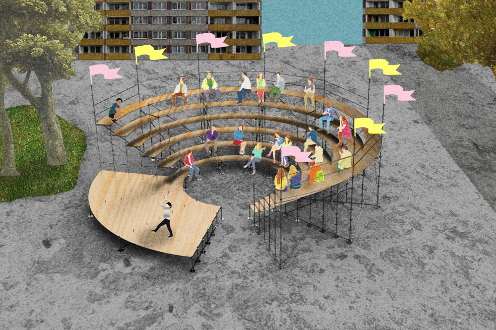 Das reisende Amphitheater. Foto: Kollektiv Plus X