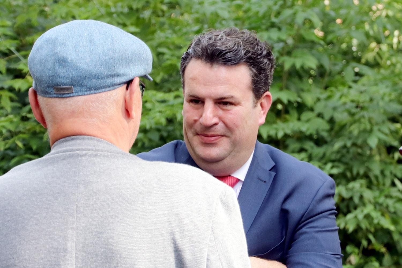 Bundesarbeitsminister Hubertus Heil (SPD) am 7. August 2021 in Leipzig. Foto: LZ