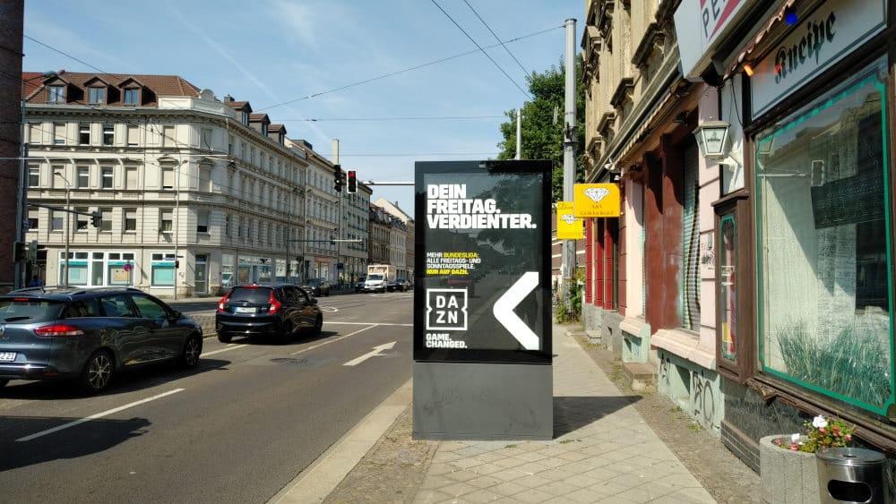 Werbedisplay kurz vor der Breitenfelder Straße. Foto: Rajko Felgentreff